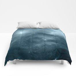 Galaxy : Pleiades Star Cluster NeBula Steel Blue Comforters