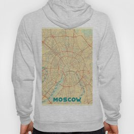 Moscow Map Retro Hoody