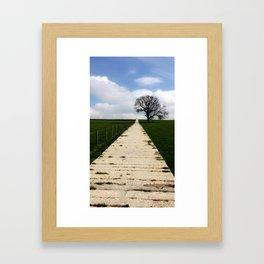 Follow the not so yellow brick road Framed Art Print