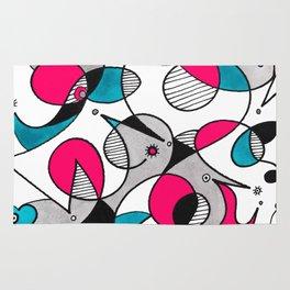 Abstract Birds Rug