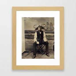 Distinguished Bison Framed Art Print