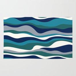 Cordillera Stripe: Teal Navy Combo Rug