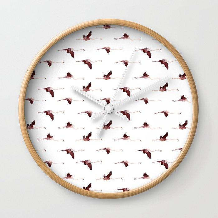 Flying Flamingos 5 Wall Clock