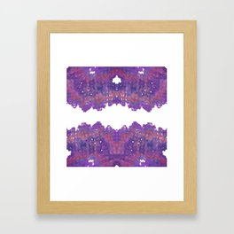 Fabric Geode 2 Framed Art Print