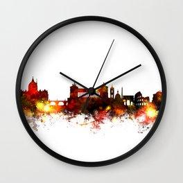 Rome Italy Skyline Wall Clock