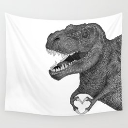 Dino Love Wall Tapestry