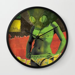 Invasion of the Bikini Monsters from Mars Wall Clock
