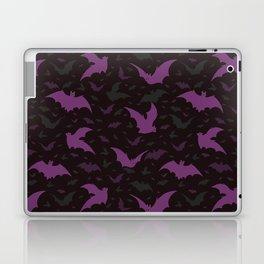 Flying Purple Halloween Bats Vector Pattern Laptop & iPad Skin