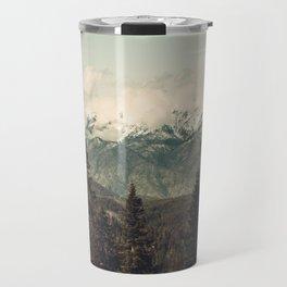 Snow capped Sierras Travel Mug