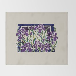Irises Throw Blanket