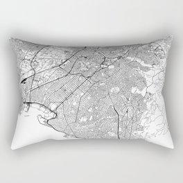 Athens White Map Rectangular Pillow