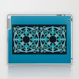 Support Love Mandala x 2 - Teal/Black Laptop & iPad Skin