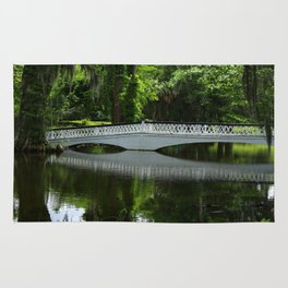 White Bridge On Magnolia Plantation Rug
