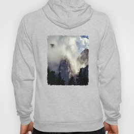 Mystical Mountains in Clouds, Landscape Nature Photography Hoody