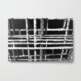 Rebar And Brick - Industrial Abstract Metal Print