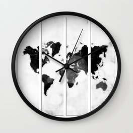 World map in pieces Wall Clock