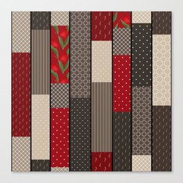 Country motifs . Classic quilting. Canvas Print