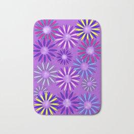 Ultra Violet Floral Poetry Bath Mat