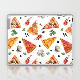 Pizza Pattern, Food Pattern, Watercolor Pizza Laptop & iPad Skin
