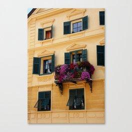 The Yellow Facade Canvas Print