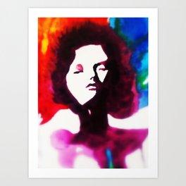 woman watercolour Art Print