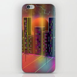 Neon City iPhone Skin