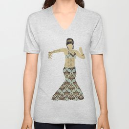 Belly dancer 4 Unisex V-Neck