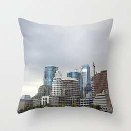 Downtown San Francisco, Changing Skyline Throw Pillow