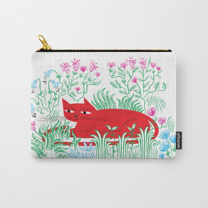 The Garden Cat Carry-All Pouch