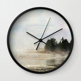 He Who Seeks Beauty Wall Clock
