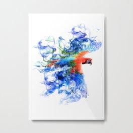 Smoking parrot Metal Print
