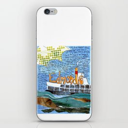 EDMONDS, WASHINGTON the town and the adventures by Seattle Artist Mary Klump iPhone Skin