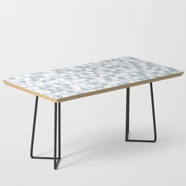 shades of ice gray triangles pattern Coffee Table
