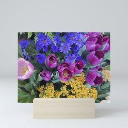 Floral Spectacular: Blue, Plum and Gold - Olbrich Botanical Gardens Spring Flower Show, Madison, WI Mini Art Print
