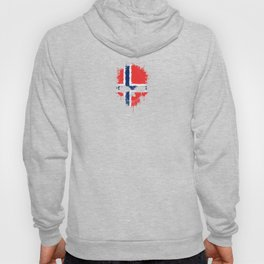 Flag of Norway on a Chaotic Splatter Skull Hoody