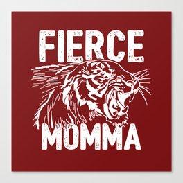 Fierce Momma / Red Canvas Print