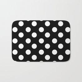 Polka Dot (White & Black Pattern) Bath Mat