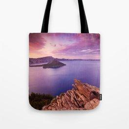 Crater Lake Sunset Tote Bag