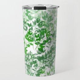 Inspirational Leafy Pattern Travel Mug