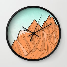 Sand Mountain Wall Clock