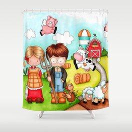 Raised on a Farm Shower Curtain