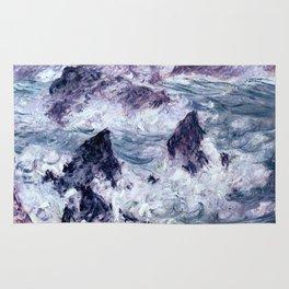 Monet : Storm At Belle Ile Rug