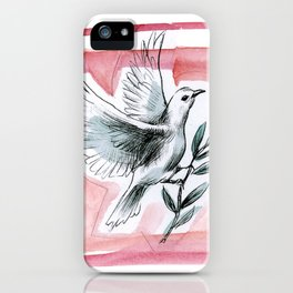 Peace Dove (Red) iPhone Case