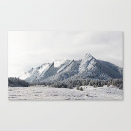 Frosty Flatirons Canvas Print
