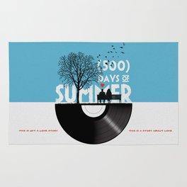 500 days of summer art Rug