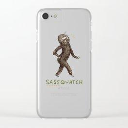 Sassquatch Clear iPhone Case
