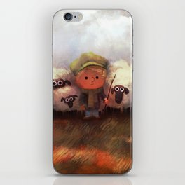 A Boy and His Herd iPhone Skin