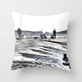 The Waiting Game Art Throw Pillow