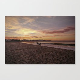 Riding Home Canvas Print