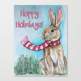 Hoppy Holidays Canvas Print